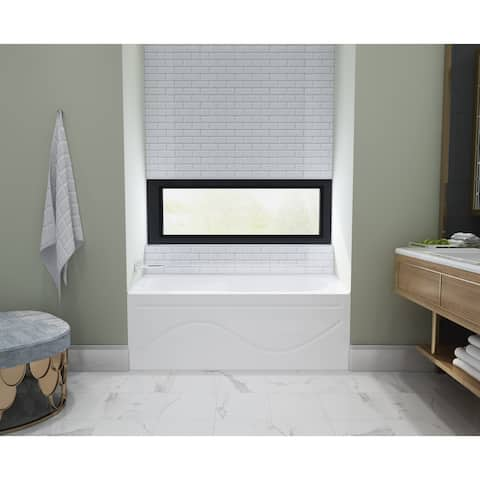 60 x 30 inches Acrylic Deep Soak Alcove Bathtub - White