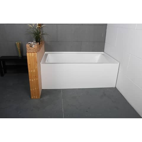 60 x 36 inches Acrylic Deep Soak Alcove Bathtub - White