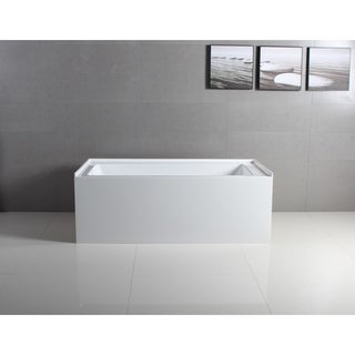 60 x 32 inches Acrylic Deep Soak Alcove Bathtub - White