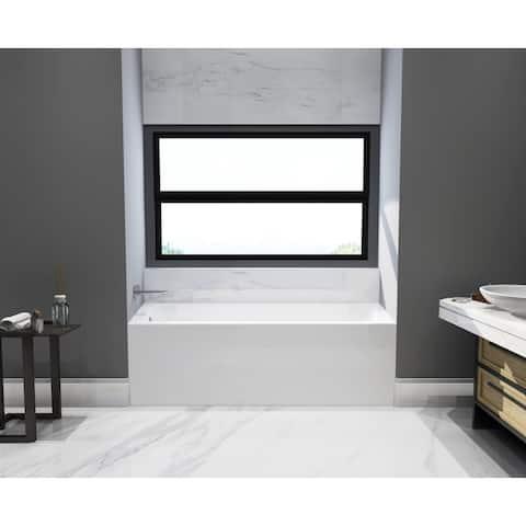 66 x 32 inches Acrylic Deep Soak Alcove Bathtub - White