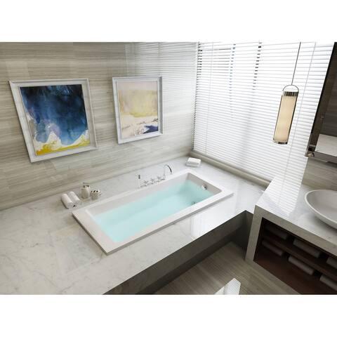59-inches Drop-in Acrylic Bathtub - White