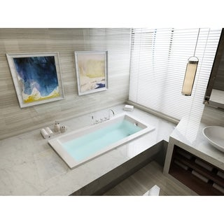 59-inches Drop-in Acrylic Bathtub - White