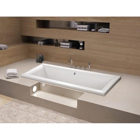 67 x 28 inches Drop-in Acrylic Bathtub - Center - White