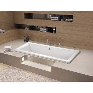 67 x 28 inches Drop-in Acrylic Bathtub - Center - White