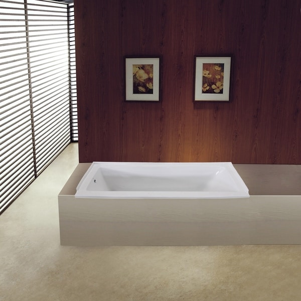 Shop 60 X 30 Inches Drop In Acrylic Bathtub Left White Free