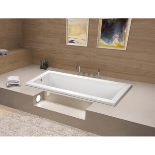 67 x 28 inches Drop-in Acrylic Bathtub - White