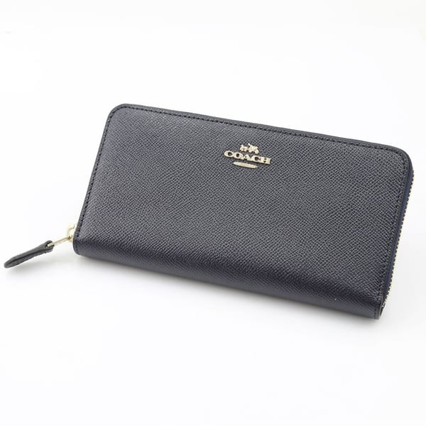 aaba0789ca6 Shop Coach Accordion Ladies Large Leather Wallet Black - Free ...