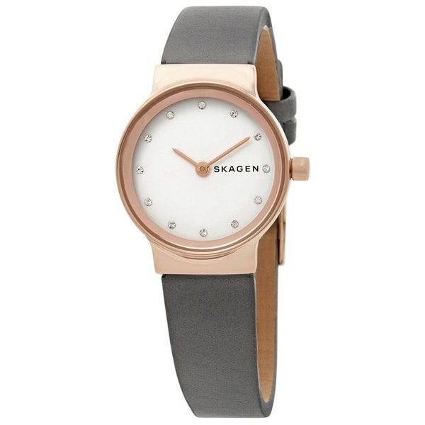 Skagen Women's SKW2669 Freja White Dial Grey Leather Watch