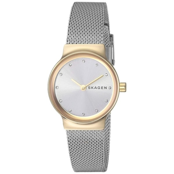 Skagen Women's SKW2666 Freja White Dial Stainless Steel Mesh Bracelet Watch