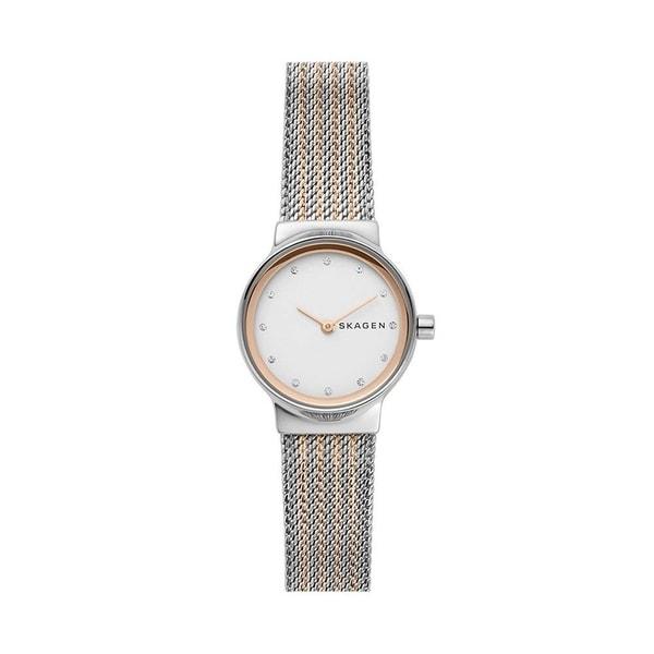 Skagen Women's SKW2699 Freja White Dial Two-Tone Stainless Steel Mesh Bracelet Watch