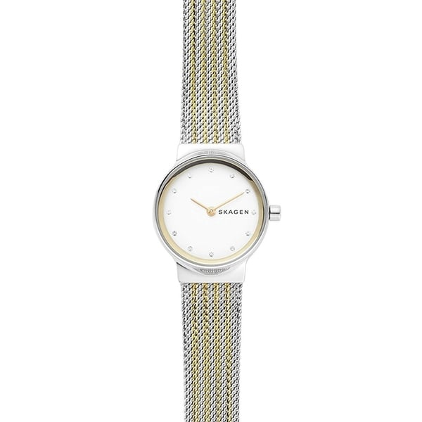 Skagen Women's SKW2698 Freja White Dial Two-Tone Stainless Steel Mesh Bracelet Watch