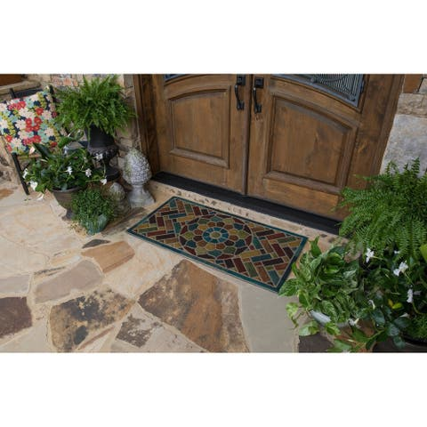 Mohawk Home Ornamental Brick Entry Mat (2'x4') - 2' x 4'