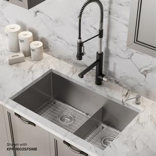 Kraus KHU103-32 Undermount 32 inch 2-Bowl Stainless Steel Kitchen Sink
