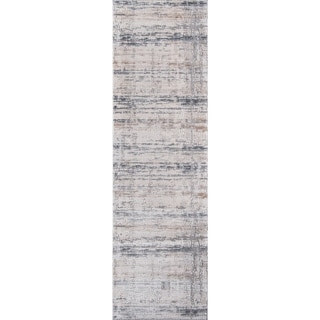 "Momeni Dalston Machine Made Polyester and Polypropylene Grey Runner - 2'3"" x 7'6"" Runner"