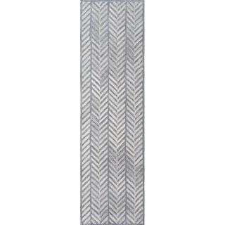 "Momeni Cortland Hand Tufted Wool Grey Runner - 2'3"" x 8' Runner"