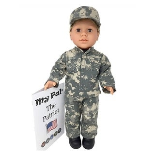 """My Pal The Patriot 18"""" Doll, Light Skin Color, Brown Eyes, Blonde Curly Hair"""