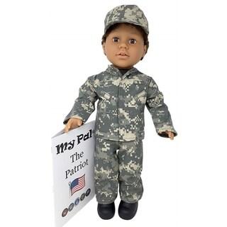 "My Pal The Patriot 18"" Doll, Medium Skin Color, Brown Eyes, Brown Curly Hair"