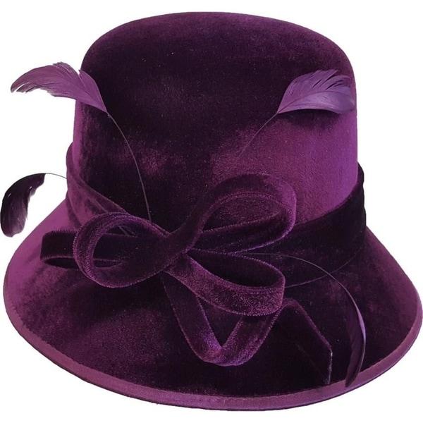 Shop Swan Hat Women's Velvet Covered Dress Church Wedding