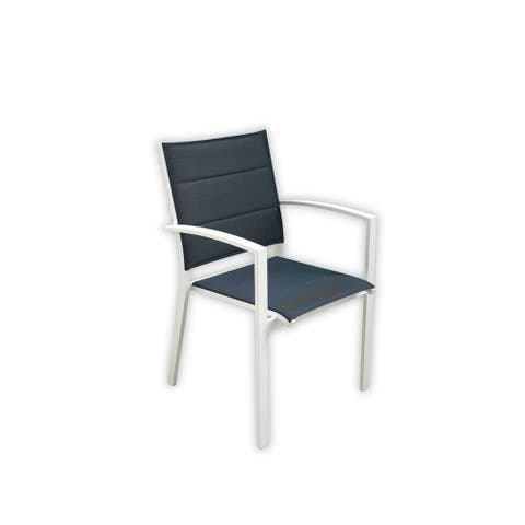 Courtyard Casual Skyline White Aluminum Outdoor Dining Chair 6-piece Set