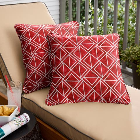 Havenside Home Apple Indoor/Outdoor Corded Pillow (Set of 2)