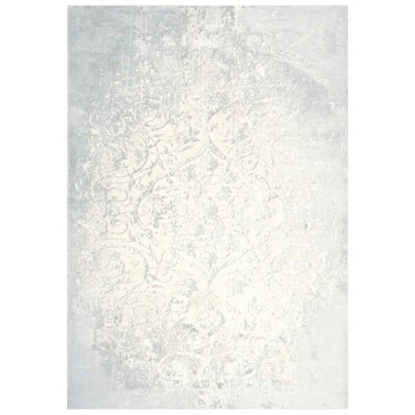 "Glamour Vine/Scroll Cream/Beige Area Rug - (8'6"" x 11'10"") - 8'6"" x 11'10"""