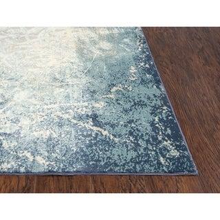 "Glamour Vine/Scroll Teal/Blue Area Rug - (8'6"" x 11'10"") - 8'6"" x 11'10"""