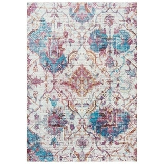"Morocco Vine/Diamond Cream/Blue Area Rug - (8'10"" x 11'10"") - 8'10"" x 11'10"""