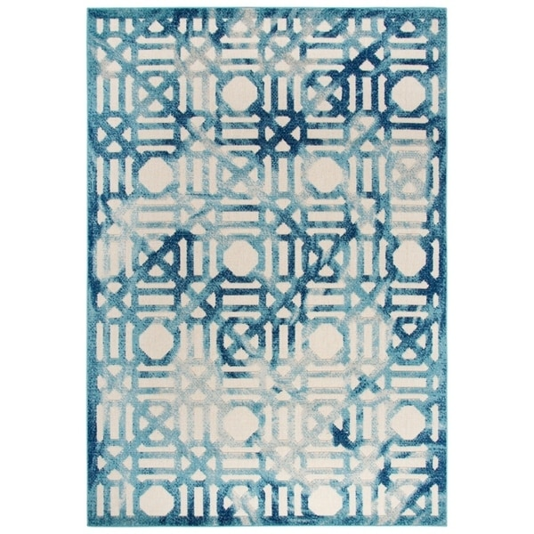 "Sydney Geometric Cream Area Rug - (7'10"" x 10'5"") - 7'10"" x 10'5"""