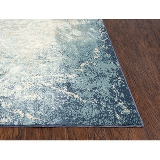 "Glamour Vine/Scroll Teal/Blue Runner Rug - (2'7"" x 9'6"") - 2'7"" x 9'6"""