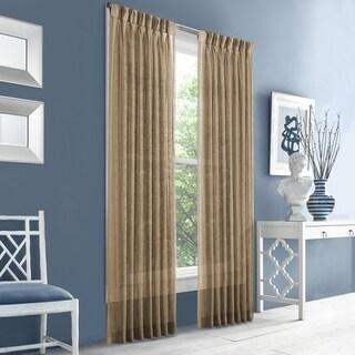 Five Queens Court Racine Texture Pinch Pleat Window Sheer Panel