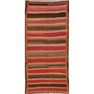 "Porch & Den Mackinaw Hand-woven Striped Wool Persian Runner Rug - 10'11"" x 5'1"""