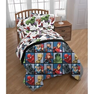 Link to Marvel Avengers Marvel Team Twin Comforter Similar Items in Kids Comforter Sets