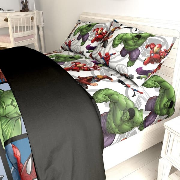 Marvel Avengers Team Twin Bed In A Bag On