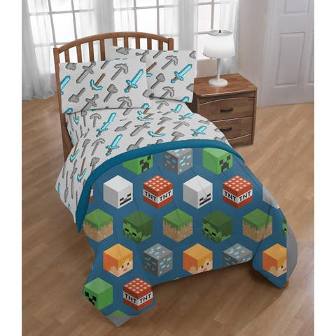 Mojang Minecraft Isometric Characters Twin Comforter