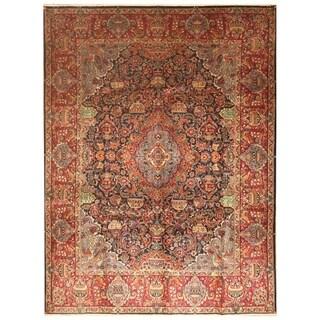Handmade Herat Oriental Persian Hand-Knotted Kashmar Wool Rug (9'8 x 12'6)