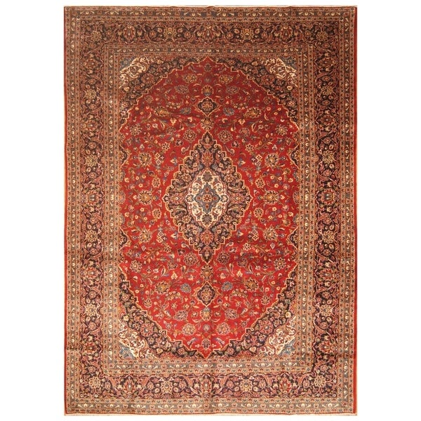 Persian Hand Knotted Kashan Silk And Wool Area Rug Ebth: Shop Handmade Herat Oriental Persian Hand-Knotted Kashan