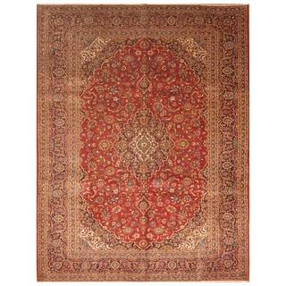 Handmade Kashan Wool Rug (Iran) - 9'10 x 12'10