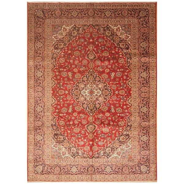 Handmade Kashan Wool Rug (Iran) - 9'5 x 13'3