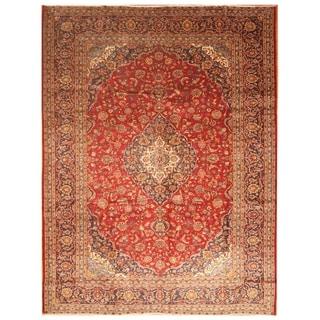 Handmade Kashan Wool Rug (Iran) - 9'10 x 13'2