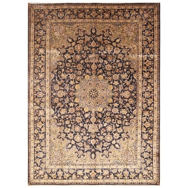Handmade Kashan Wool Rug (Iran) - 9'6 x 13'