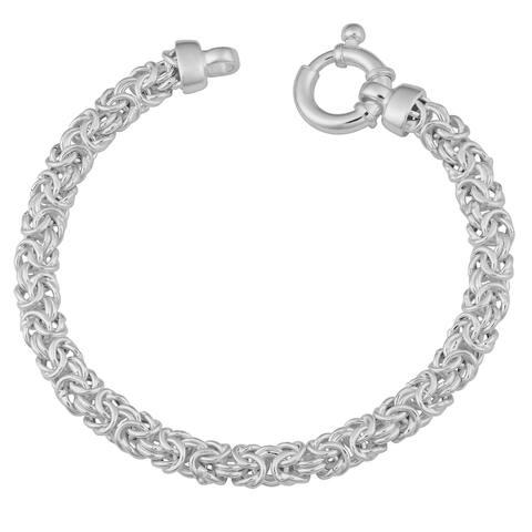 Sterling Silver 6.5 millimeter Byzantine Bracelet (7.5 or 8.5 inch)