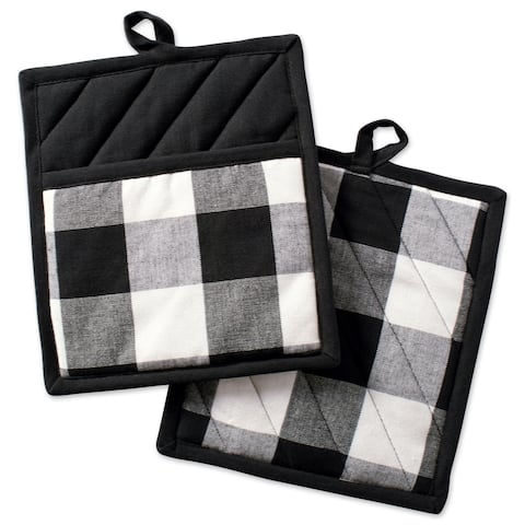 DII Buffalo Check Kitchen Potholder Set (Set of 2)