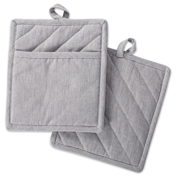 DII Solid Chambray Potholder Set (Set of 2). Opens flyout.