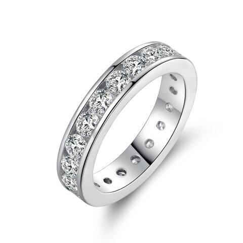 Rhodium Plated Swarovski Crystal Ring