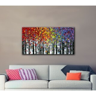 ArtWall Susanna Shaposhnikova's Birch Gallery Wrapped Canvas Size 12 x 24 (As Is Item)