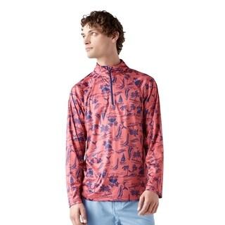 Trunks Men's Half Zip Swim Shirt - Tiki Island