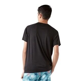 Trunks Men's Short Sleeve Swim Tee - Flamingo Sunset