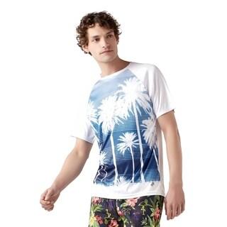 Trunks Men's Short Sleeve Swim Tee - Striple Palm