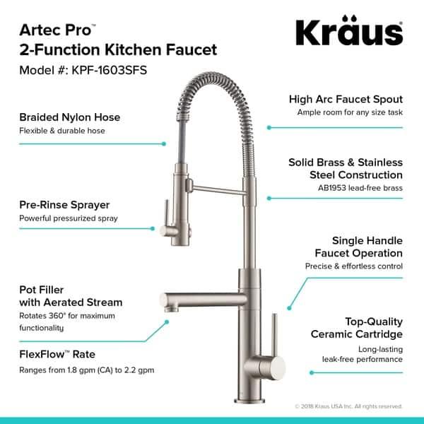 Shop Kraus KPF-1603 Artec Pro 2-Function Commercial Pre ...