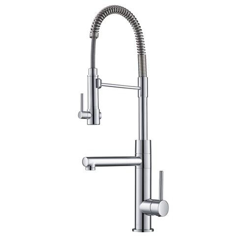 Kraus KPF-1603 Artec Pro 2-Function Commercial Pre-Rinse Kitchen Faucet, Spot Free Stainless Steel, Chrome, Matte Black